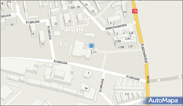 Chorzów, Plac Powstańców Śląskich, 1, mapa Chorzów