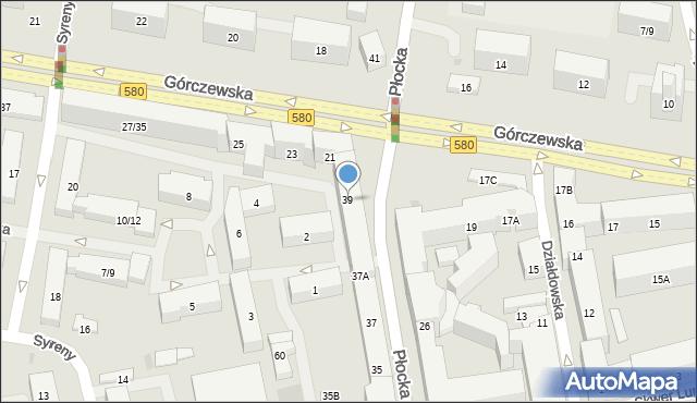 Warszawa, Płocka, 39, mapa Warszawy