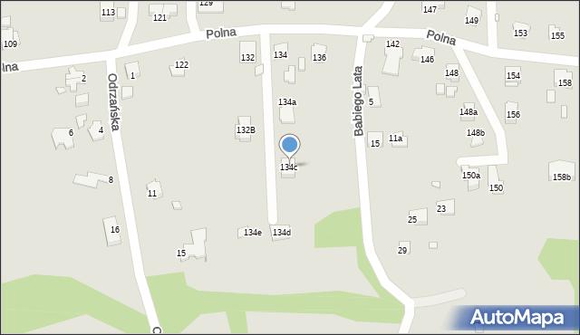 Bielsko-Biała, Polna, 134c, mapa Bielsko-Białej