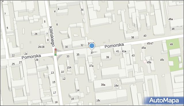 Łódź, Pomorska, 37, mapa Łodzi