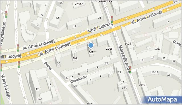 Warszawa, Polna, 30B, mapa Warszawy