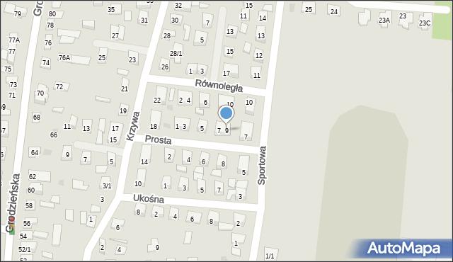 Wasilków, Prosta, 9, mapa Wasilków