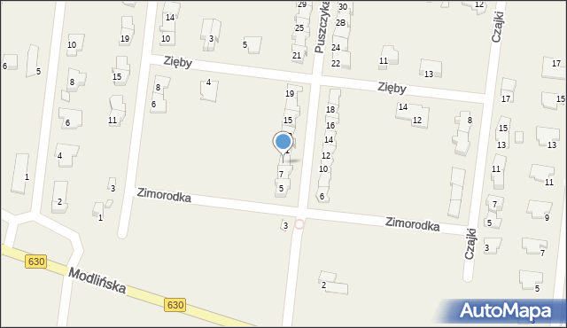Skierdy, Puszczyka, 9, mapa Skierdy
