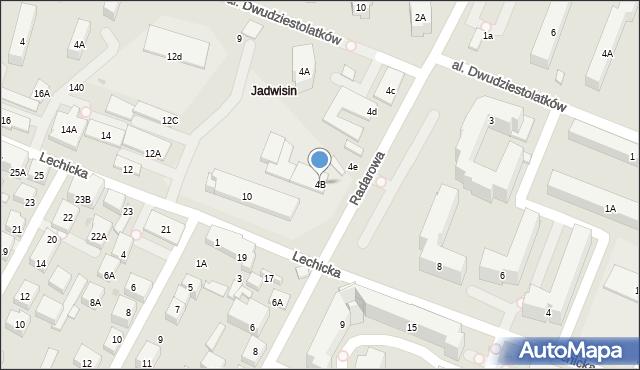 Warszawa, Radarowa, 4B, mapa Warszawy