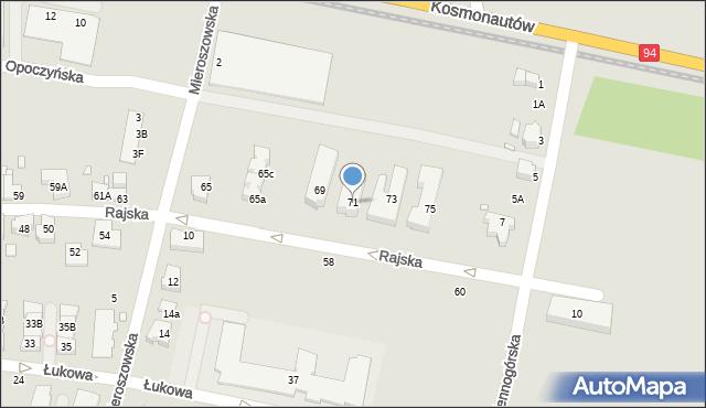 Wrocław, Rajska, 71, mapa Wrocławia