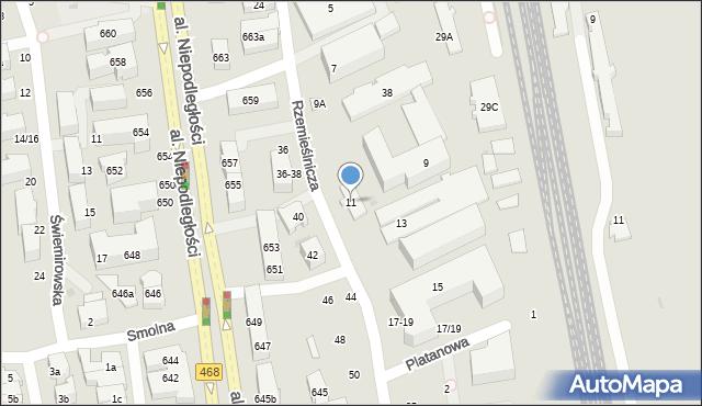 Sopot, Rzemieślnicza, 11, mapa Sopotu