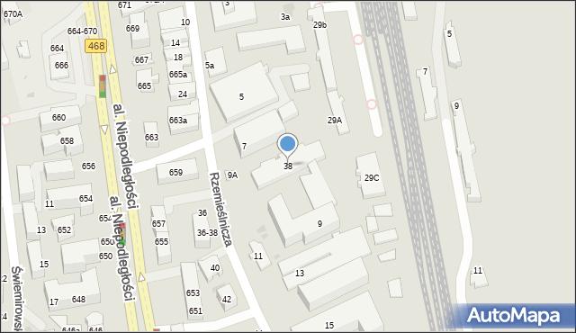 Sopot, Rzemieślnicza, 38, mapa Sopotu