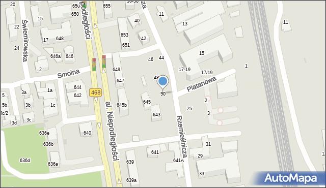 Sopot, Rzemieślnicza, 50, mapa Sopotu