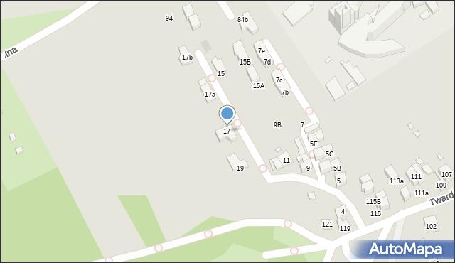 Kraków, Salezjańska, 17, mapa Krakowa