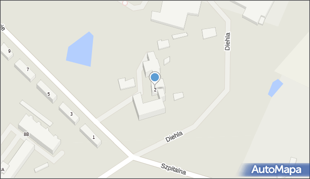 Kętrzyn, Skłodowskiej-Curie Marii, 2, mapa Kętrzyn