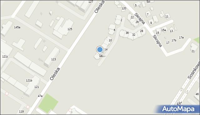 Opole, Skrajna, 20, mapa Opola