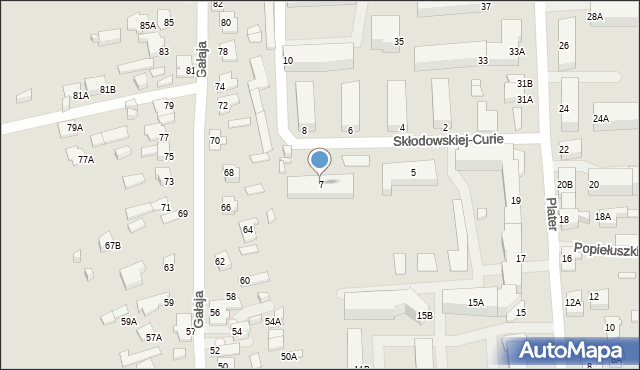 Suwałki, Skłodowskiej-Curie Marii, 7, mapa Suwałk