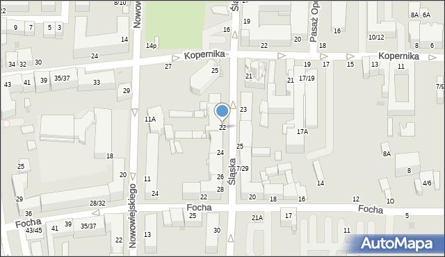 Częstochowa, Śląska, 22, mapa Częstochowy