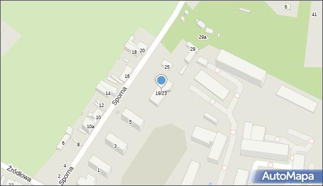 Łódź, Sporna, 19/23, mapa Łodzi