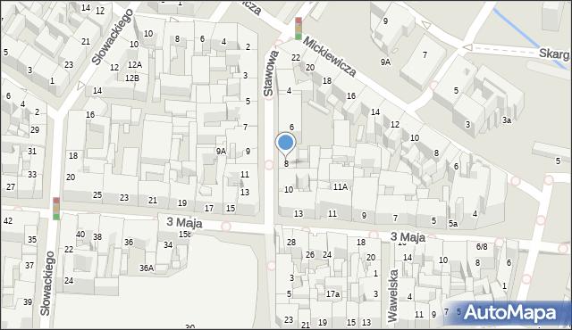 Katowice, Stawowa, 8, mapa Katowic