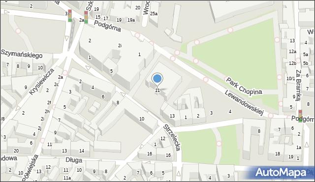 Poznań, Strzelecka, 11, mapa Poznania