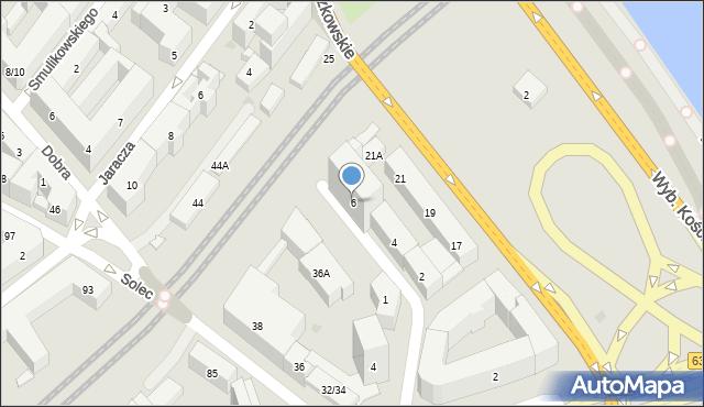 Warszawa, św. Franciszka Salezego, 6, mapa Warszawy