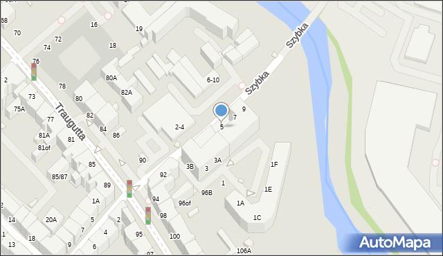 Wrocław, Szybka, 5, mapa Wrocławia