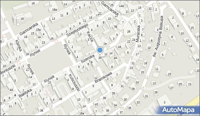 Żory, Szeroka, 10, mapa Żor