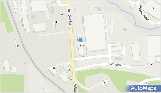 Limanowa, Tarnowska, 1, mapa Limanowa