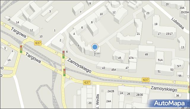 Warszawa, Targowa, 2, mapa Warszawy