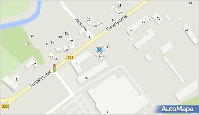 Lublin, Turystyczna, 5, mapa Lublina