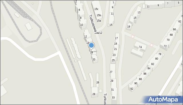 Szczecin, Turkusowa, 18, mapa Szczecina