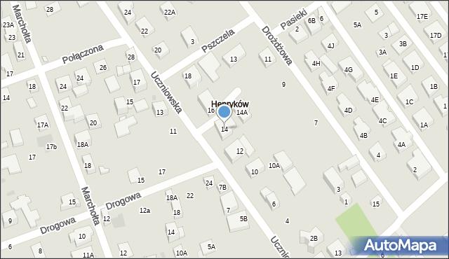 Warszawa, Uczniowska, 14, mapa Warszawy