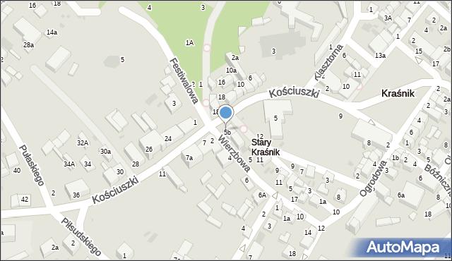 Kraśnik, Wierzbowa, 1, mapa Kraśnik