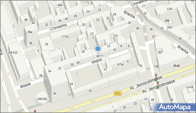 Warszawa, Widok, 14, mapa Warszawy