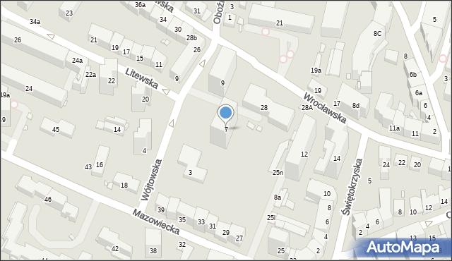 Kraków, Wójtowska, 7, mapa Krakowa