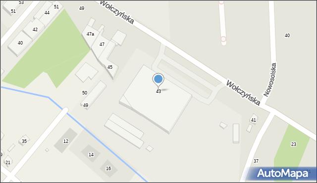 Poznań, Wołczyńska, 43, mapa Poznania