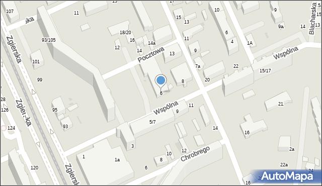 Łódź, Wspólna, 6, mapa Łodzi