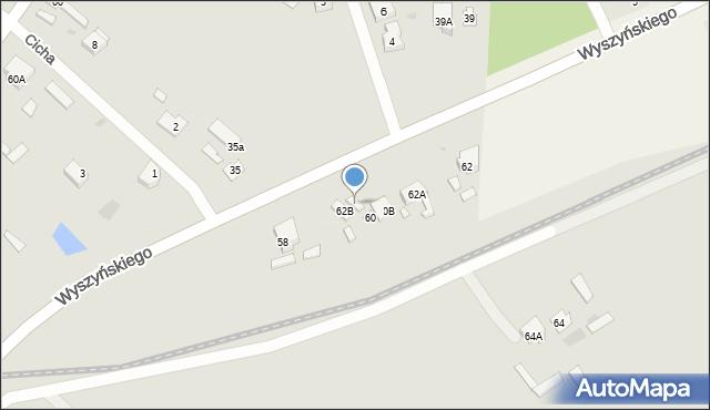 Radzymin, Wyszyńskiego Stefana, ks. kard., 60A, mapa Radzymin