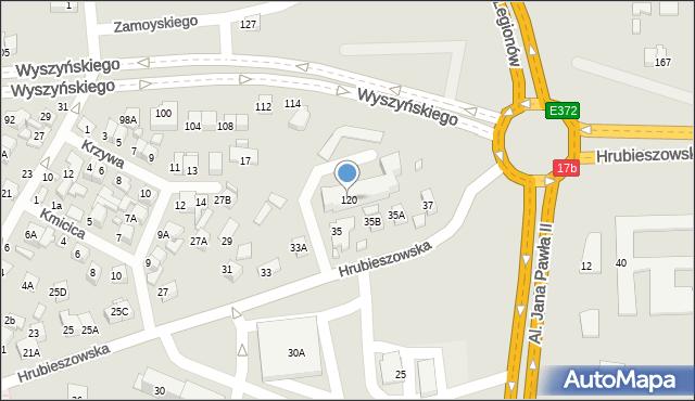 Zamość, Wyszyńskiego Stefana, ks. Prymasa kard., 120, mapa Zamościa