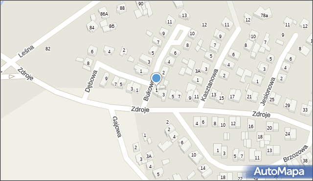 Czerwonak, Zdroje, 1, mapa Czerwonak