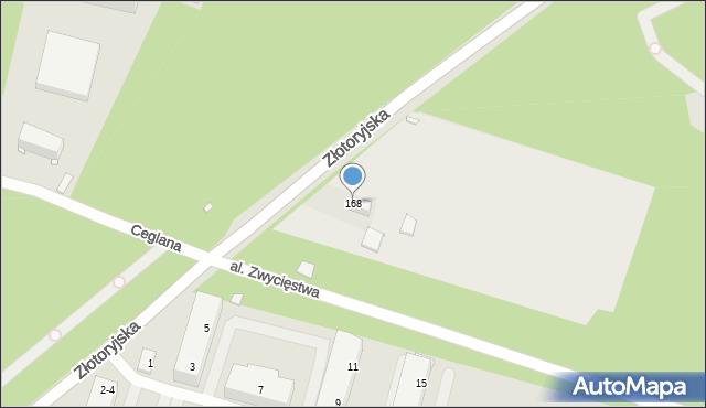 Legnica, Złotoryjska, 168, mapa Legnicy