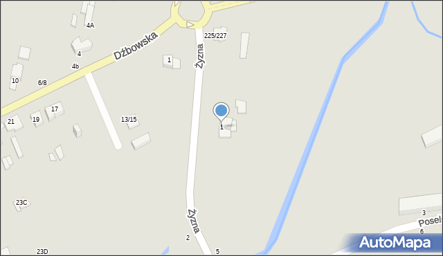 Częstochowa, Żyzna, 1, mapa Częstochowy