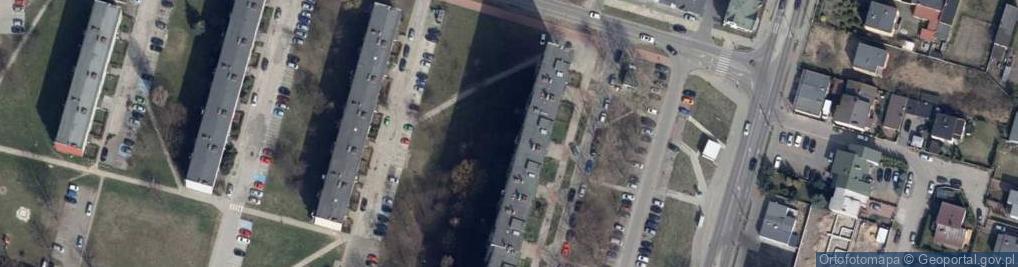 Zdjęcie satelitarne Dzieci Polskich ul.