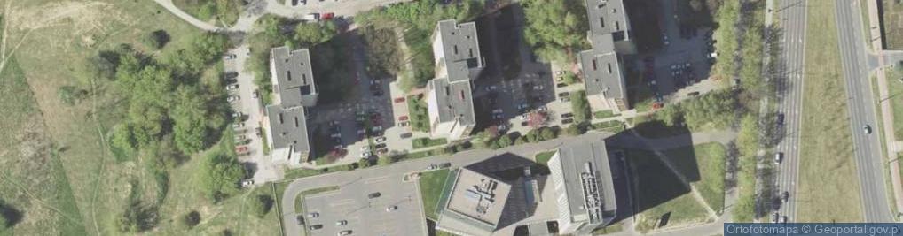 Zdjęcie satelitarne Młodej Polski ul.