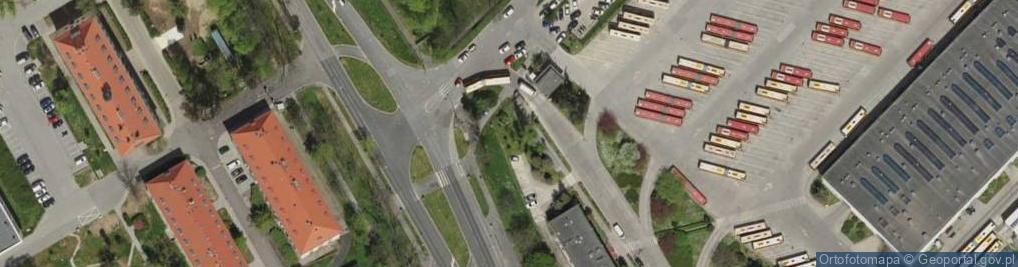 Zdjęcie satelitarne Paprotna ul.