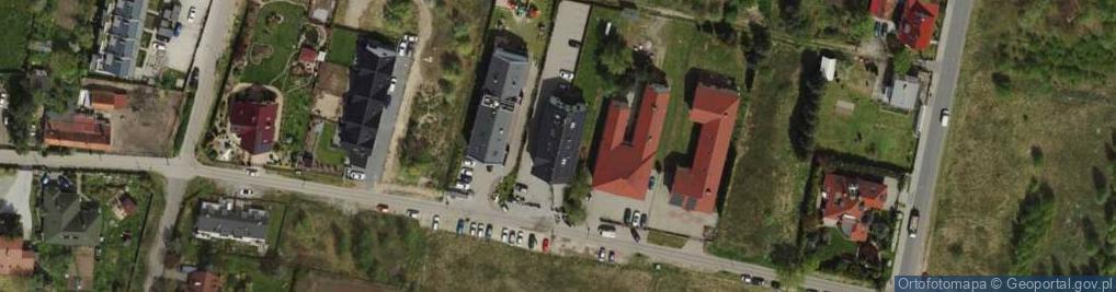 Zdjęcie satelitarne Rajska ul.