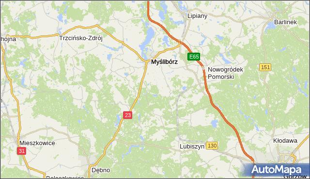 gmina Dębno - powiat myśliborski na mapie Targeo