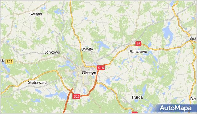gmina Kolno - powiat olsztyński na mapie Targeo