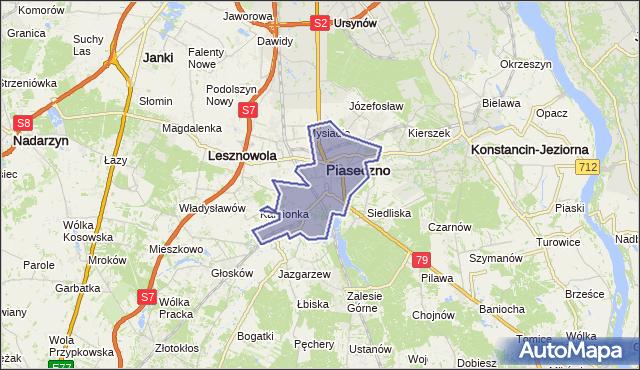 gmina Piaseczno - powiat piaseczyński na mapie Targeo