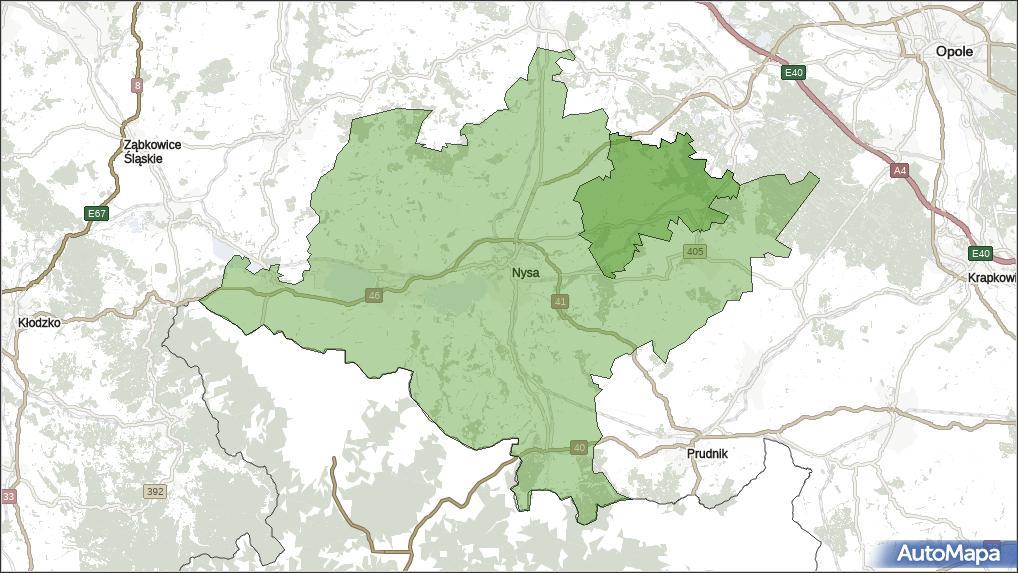 Gmina u0141ambinowice, powiat nyski, województwo opolskie na mapie Targeo