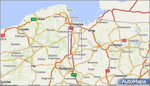 korki drogowe Droga krajowa nr 55 na mapie Targeo