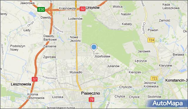 mapa Józefosław, Józefosław na mapie Targeo