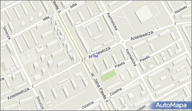 Przystanek ANIELEWICZA 03. ZTM Warszawa - Warszawa na mapie Targeo