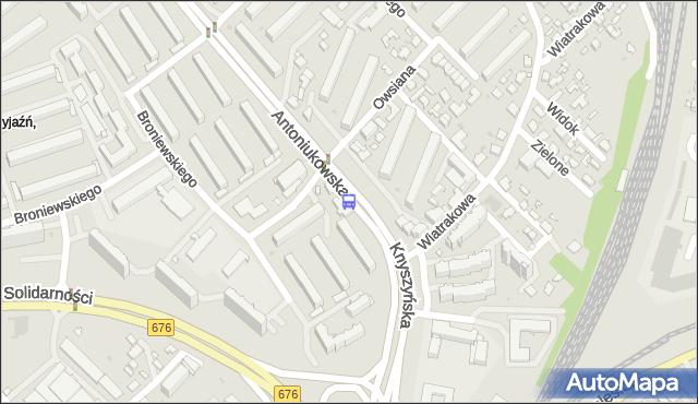 Przystanek Antoniukowska/Knyszyńska. BKM - Białystok (google) na mapie Targeo